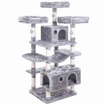 BEWISHOME Large Cat Tree Condo with Sisal Scratching Posts
