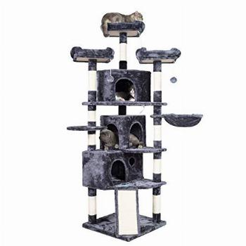 Hey-brother XL Size Cat Tree, Cat Tower with 3 Caves, 3 Cozy