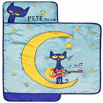Pete The Cat Night Music Nap Mat - Built-in Pillow and
