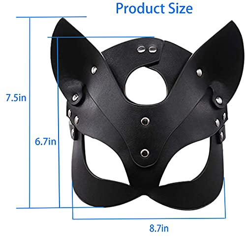 Catwoman Leather Cat Mask Costume Sex Bunny Fox Masks,Sexy